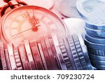 time is money  time value of... | Shutterstock . vector #709230724