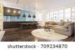 3d rendering modern living room ... | Shutterstock . vector #709234870