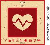 heart medical icon | Shutterstock .eps vector #709237003