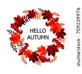 autumn banner background with... | Shutterstock .eps vector #709239976