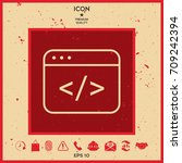 code editor icon | Shutterstock .eps vector #709242394
