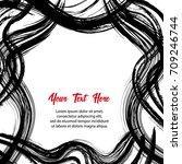modern grunge style banner.... | Shutterstock .eps vector #709246744