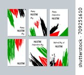 palestine patriotic cards for... | Shutterstock .eps vector #709251610