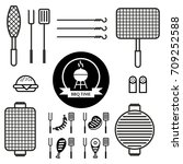 set of icons with different... | Shutterstock .eps vector #709252588