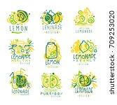 freshly lemonade logo  100... | Shutterstock .eps vector #709253020