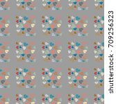 new color seamless pattern with ... | Shutterstock . vector #709256323