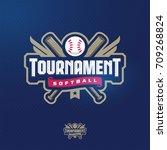 modern professional softball... | Shutterstock .eps vector #709268824
