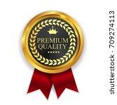premium quality golden medal... | Shutterstock . vector #709274113