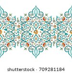 raster version. vintage decor ... | Shutterstock . vector #709281184
