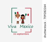 mexico independence day... | Shutterstock .eps vector #709282264