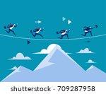 business people running over...   Shutterstock .eps vector #709287958