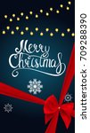 merry christmas and new year... | Shutterstock . vector #709288390