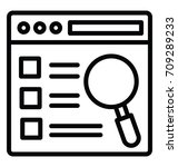 window search vector icon | Shutterstock .eps vector #709289233