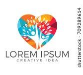 human health logo design.... | Shutterstock .eps vector #709289614