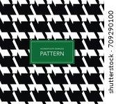 seamless black and white... | Shutterstock .eps vector #709290100