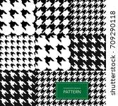 seamless black and white... | Shutterstock .eps vector #709290118