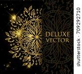 vector illustration mandala... | Shutterstock .eps vector #709292710