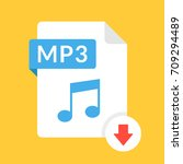 download mp3 icon. file with... | Shutterstock .eps vector #709294489