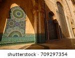 detail decorative of hassan ii...   Shutterstock . vector #709297354