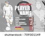 illustration of soccer players ... | Shutterstock .eps vector #709301149