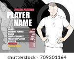 illustration of soccer players ...   Shutterstock .eps vector #709301164