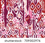 colorful ikats abstract print.... | Shutterstock .eps vector #709302976
