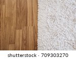 close up luxury white carpet on ... | Shutterstock . vector #709303270