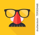 disguise mask. mask with... | Shutterstock .eps vector #709303468