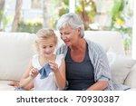 senior knitting with her...   Shutterstock . vector #70930387