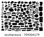 hand drawn abstract grunge... | Shutterstock .eps vector #709304179