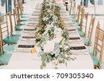 wedding decor | Shutterstock . vector #709305340