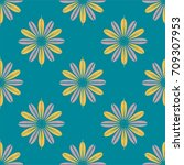 new color seamless pattern with ... | Shutterstock . vector #709307953