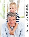 little boy with his grandfather ... | Shutterstock . vector #70931020