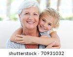 lovely little girl with her... | Shutterstock . vector #70931032