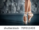 Ballerina In Pointe Shoes....