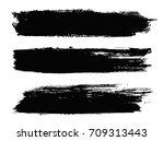 grunge paint stripes.vector... | Shutterstock .eps vector #709313443