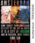 amsterdam poster design | Shutterstock . vector #709314040