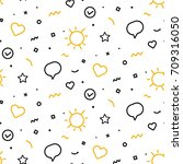 fun party style seamless... | Shutterstock .eps vector #709316050