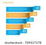 info graphic design template.... | Shutterstock .eps vector #709317178