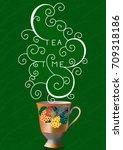 tea time. vector illustration | Shutterstock .eps vector #709318186