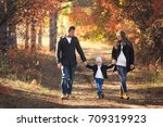 young happy family have fun and ... | Shutterstock . vector #709319923