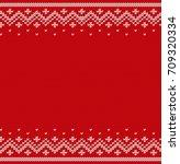 knit design. christmas seamless ... | Shutterstock .eps vector #709320334
