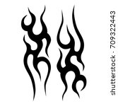 tattoo tribal vector design.... | Shutterstock .eps vector #709322443
