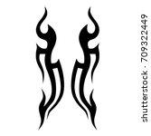 tattoo tribal vector design.... | Shutterstock .eps vector #709322449