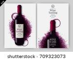 idea for wine design  product... | Shutterstock .eps vector #709323073