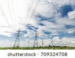 green energy concept ... | Shutterstock . vector #709324708