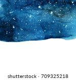 Watercolor Night Sky Backgroun...