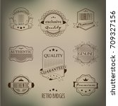 retro badges | Shutterstock .eps vector #709327156