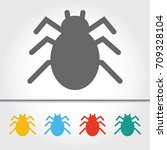 spider single icon vector... | Shutterstock .eps vector #709328104