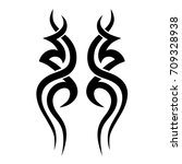 tribal tattoo art designs.... | Shutterstock .eps vector #709328938